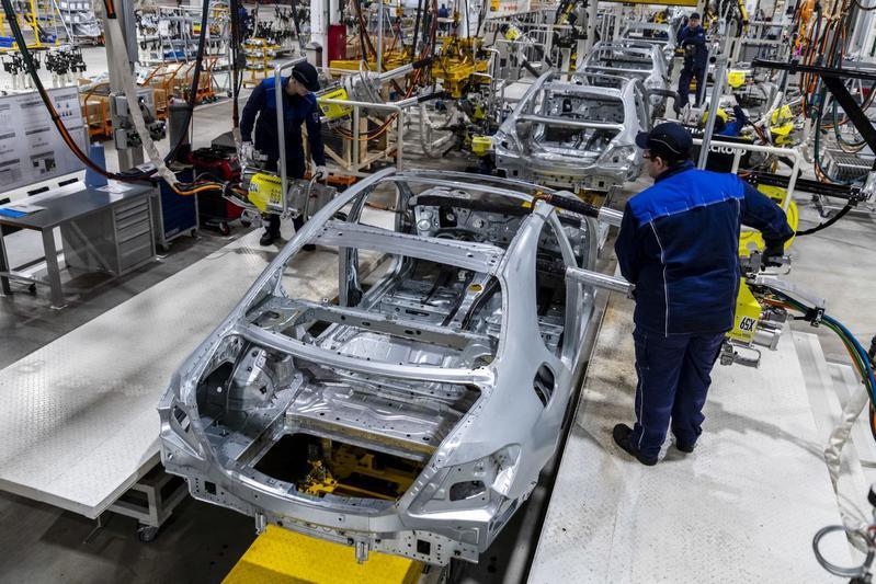 Fabriek Daimler Mercedes-Benz productie