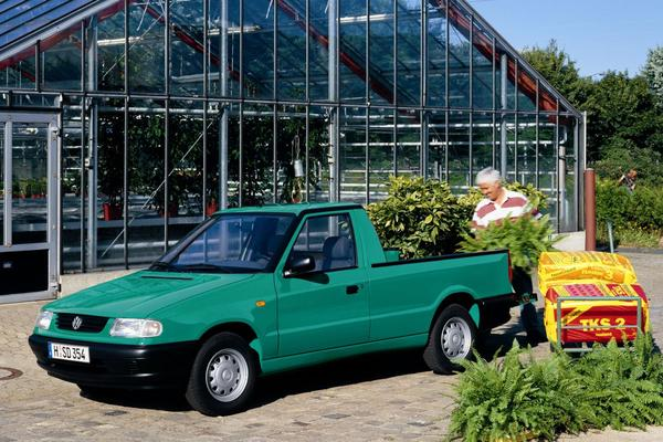 De Tweeling: Skoda Felicia pick-up - Volkswagen Caddy pick-up