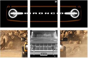 Ford Bronco staart je aan
