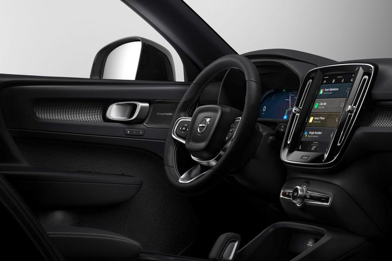 Volvo XC40 Electric Android Auto interieur