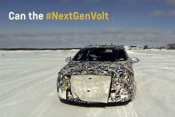 Nieuwe Chevrolet Volt danst op ijs