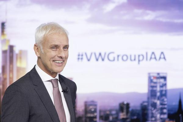 Matthias Müller Volkswagen Group Night IAA 2017 Fr