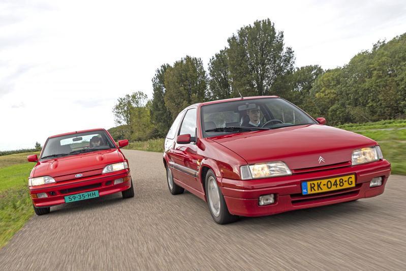 Citroën ZX 16V (1992) - Ford Escort RS 2000 (1992) - Dubbeltest