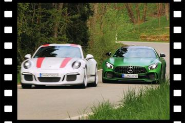 Videoflashback: Mercedes AMG GTR vs. Porsche 911 R - Dubbeltest