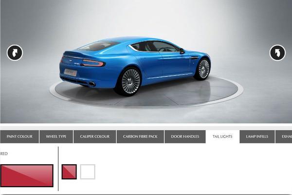 Rode achterlichten voor Aston Martin Rapide S