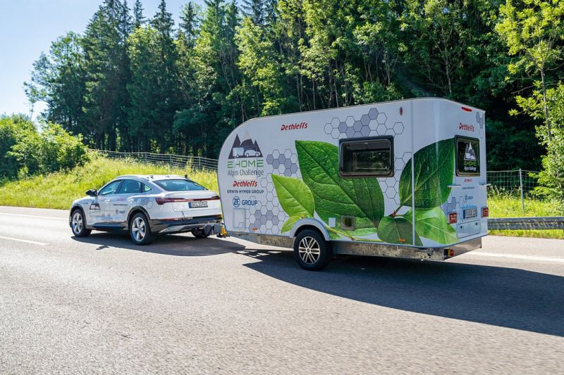 Elektrische caravan achter EV: autovakantie van de toekomst?