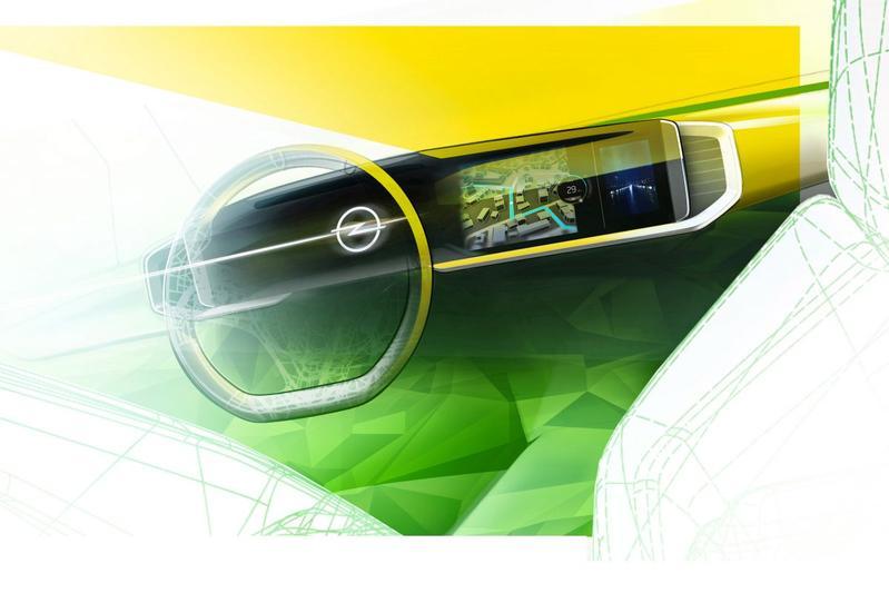 Opel Mokka interieurschets