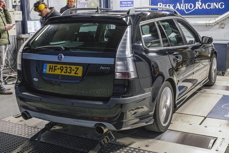 Saab 9-3 Sport Estate 2.8 V6 T Aero Hirsch - Op de Rollenbank