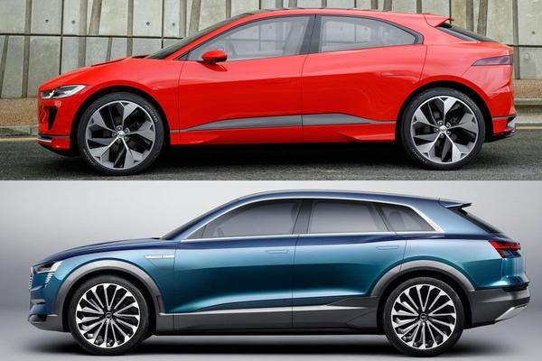 Spiegel aan spiegel: Jaguar i-Pace en Audi e-tron