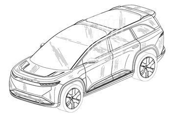 Elektrische SUV Lucid Gravity vanuit alle hoeken [Exclusief]