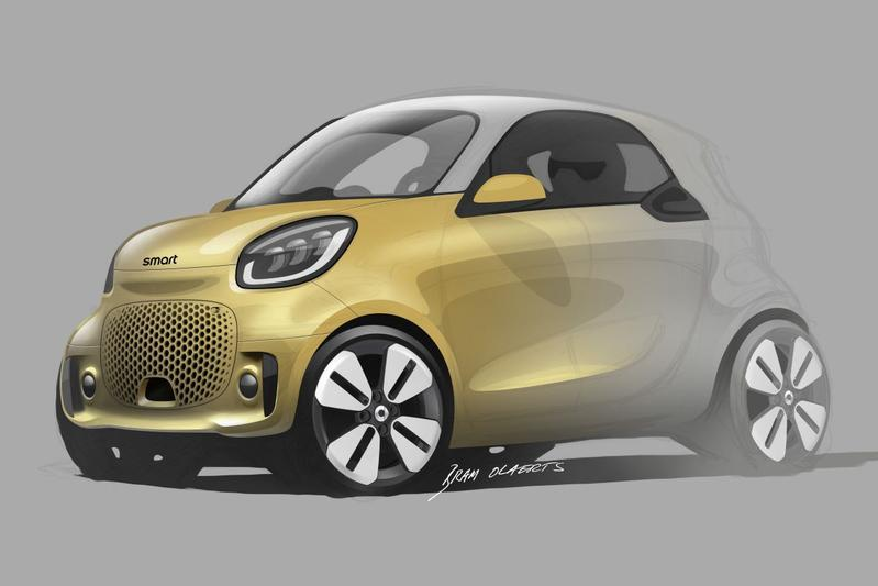 Smart Fortwo facelift schets