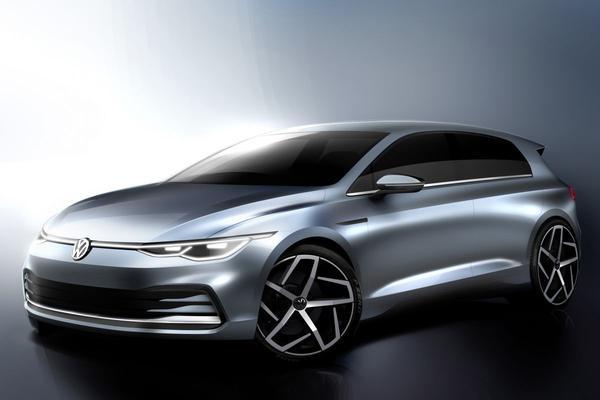 Volkswagen Golf VIII vast uitgetekend