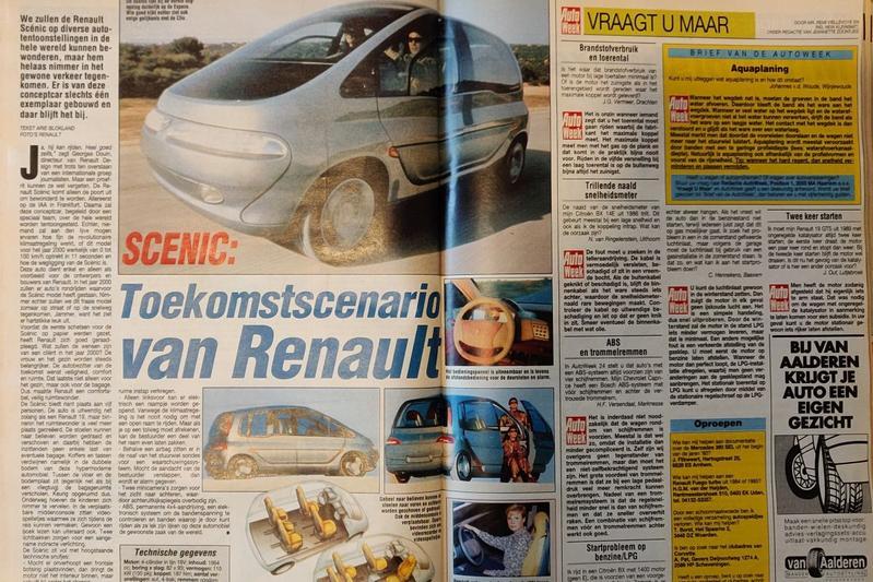 Renault Scénic vooruitblik 1991