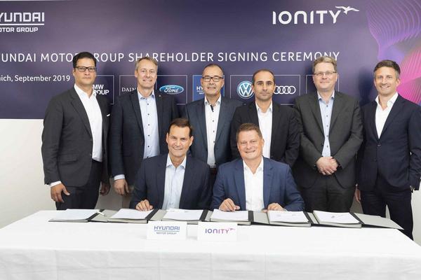 Ionity verwelkomt Hyundai