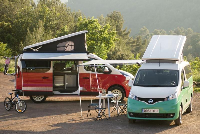 Nissan e-NV200 en NV300 als kampeerauto