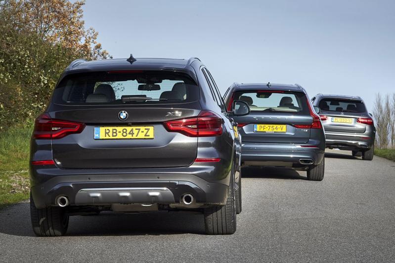 BMW X3 - Mercedes-Benz GLC-klasse - Volvo XC60