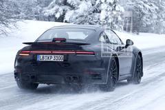 Nieuwe Porsche 911 Turbo gesnapt