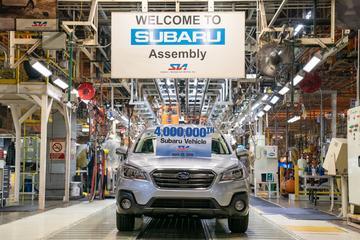 Subaru bouwt 4 miljoenste auto buiten Japan