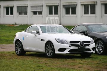 Gesnapt: Mercedes SLC-klasse in vol ornaat!