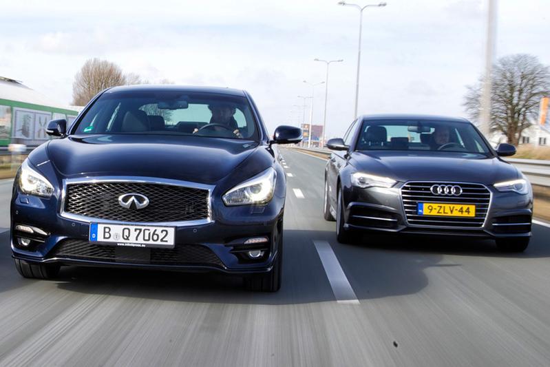 Dubbeltest - Infiniti Q70 vs. Audi A6
