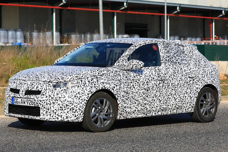 Opel Corsa camouflage spy