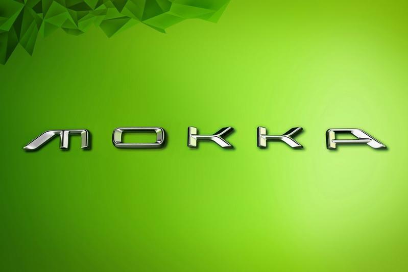 Opel Mokka lettertype typeaanduiding