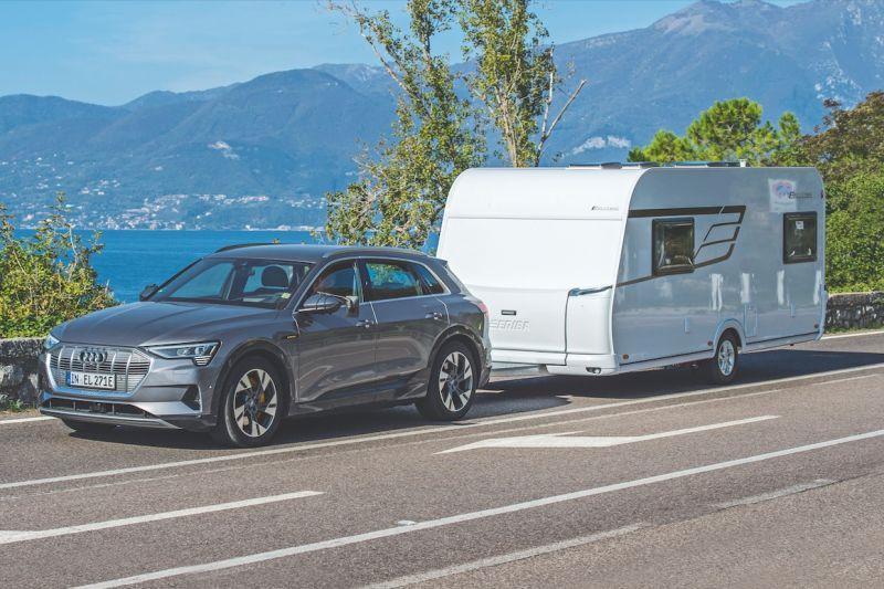 Audi E-tron EV trekgewicht caravan aanhanger