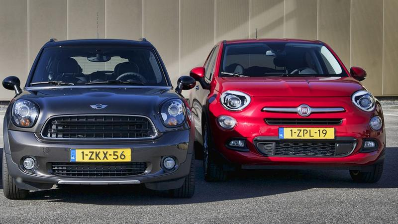 Dubbeltest - Fiat 500X vs Mini Countryman