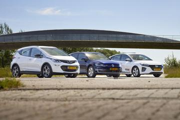 Hyundai Ioniq Electric - Opel Ampera-e - VW E-Golf
