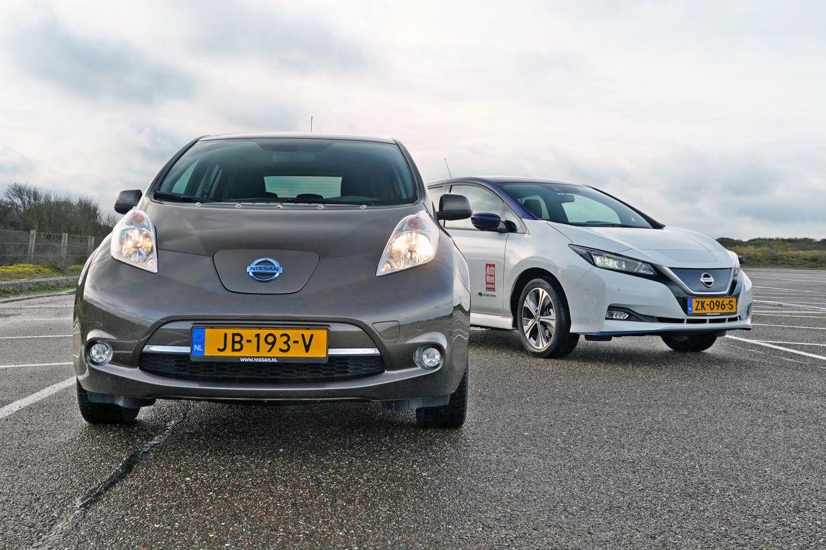 Nissan Leaf oud en nieuw
