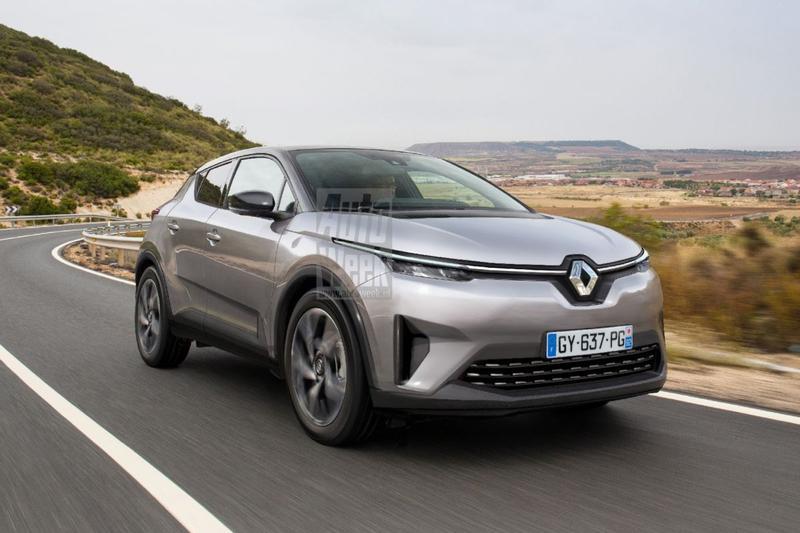 Renault EV cross-over elektrische illustratie