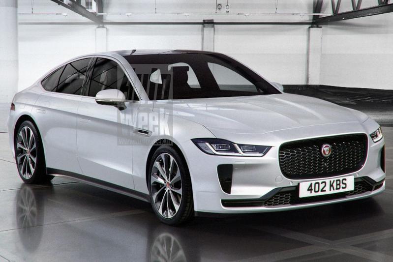 Jaguar XJ render vooruitblik