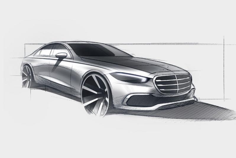 Mercedes-Benz S-klasse schets