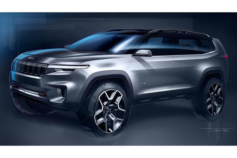Jeep 'Yuntu' Concept geschetst