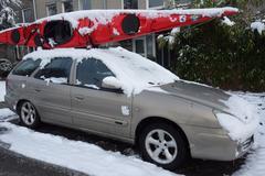 Citroën Xsara in de sneeuw