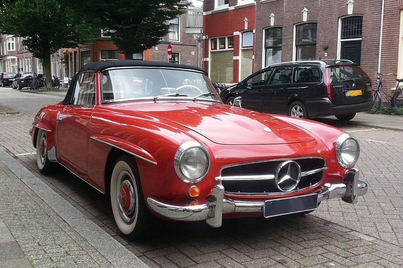 In het wild: Mercedes-Benz 190 SL (1957)