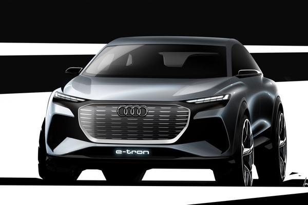 Audi Q4 e-tron in beeld