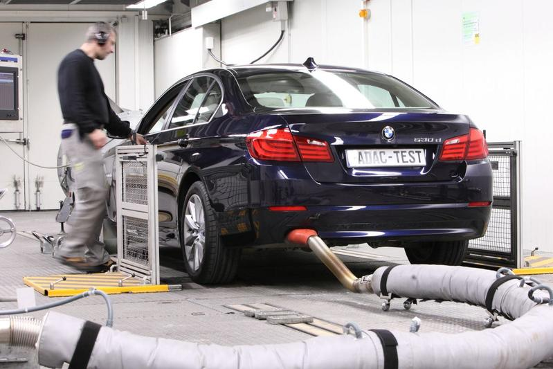 BMW 530d emissietest ADAC
