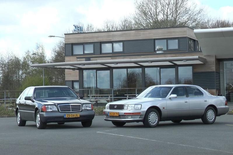 Lexus LS 400 vs Mercedes 400 SE (1991) - Dubbeltest
