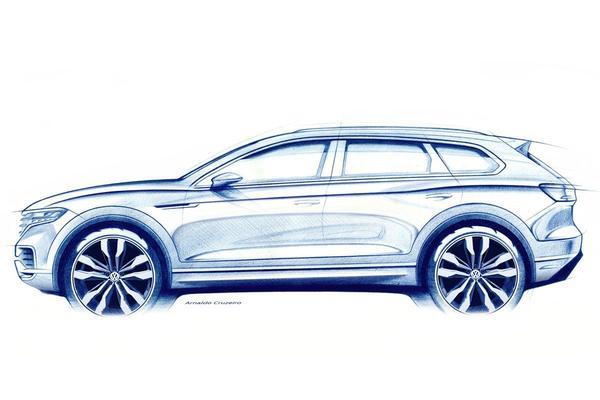 Volkswagen teast Touareg