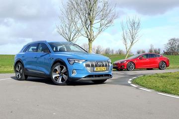Audi E-Tron vs. Tesla Model S - Dubbeltest