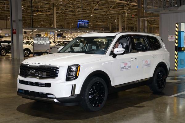 Kia bouwt 3 miljoenste auto in Verenigde Staten