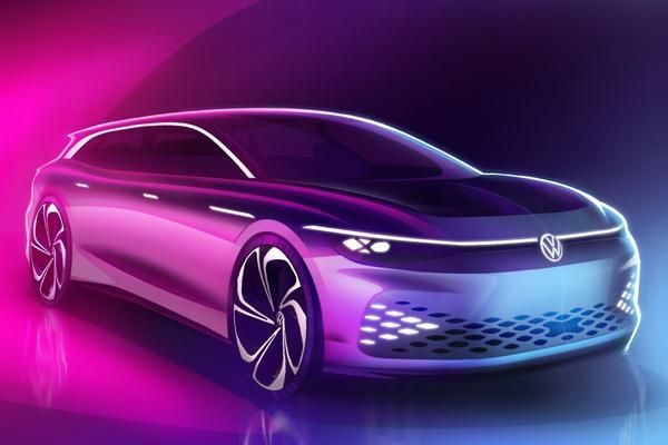 Volkswagen met ID. Space Vizzion Concept naar Los Angeles