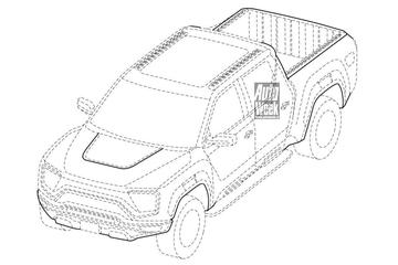Nikola's afgeschoten Badger en nieuwe elektrische vrachtwagen op patentbeeld