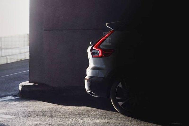 Volvo XC40 toont achterste te vroeg