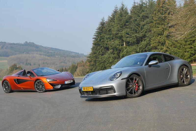 Porsche 911 Carrera 4S vs McLaren 570S - Dubbeltest
