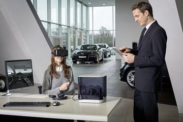 Virtual reality in de showroom