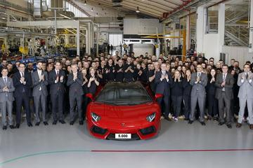 5.000ste Lamborghini Aventador een feit