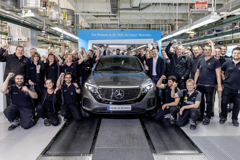 Productie fabriek Mercedes-Benz EQC EV
