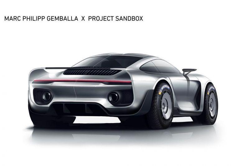 Marc Philipp Gemballa Porsche schets